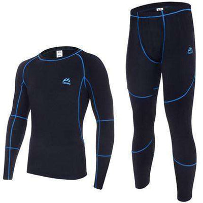 Warm Thermal Fleece Long Johns Blue / M Long Johns