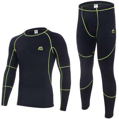 Warm Thermal Fleece Long Johns Green / M Long Johns