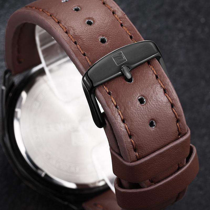 Waterproof Quartz Watch Men Military Leather Sports Watches