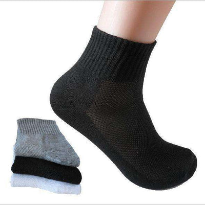 White/black/gray Mesh Socks Black / China / Free Size Socks
