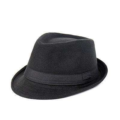 Wide Brim Men Fedora Hats Black Fedoras