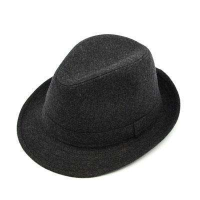 Wide Brim Men Fedora Hats Dark Gray Fedoras