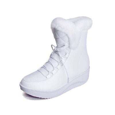 Women Boots Solid Slip-On Soft Cute Women Snow Boots White / 4