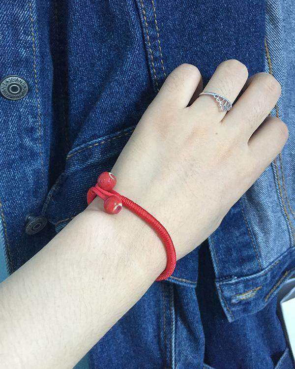 Women Lucky Bracelets Bead Red String Ceramic Bracelets