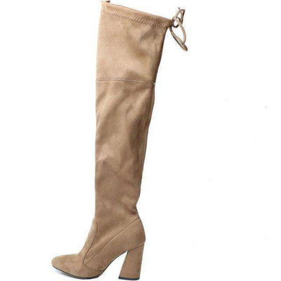 Women Over The Knee Boots Lace Up Sexy Hoof Heels Women Shoes Tuose / 11