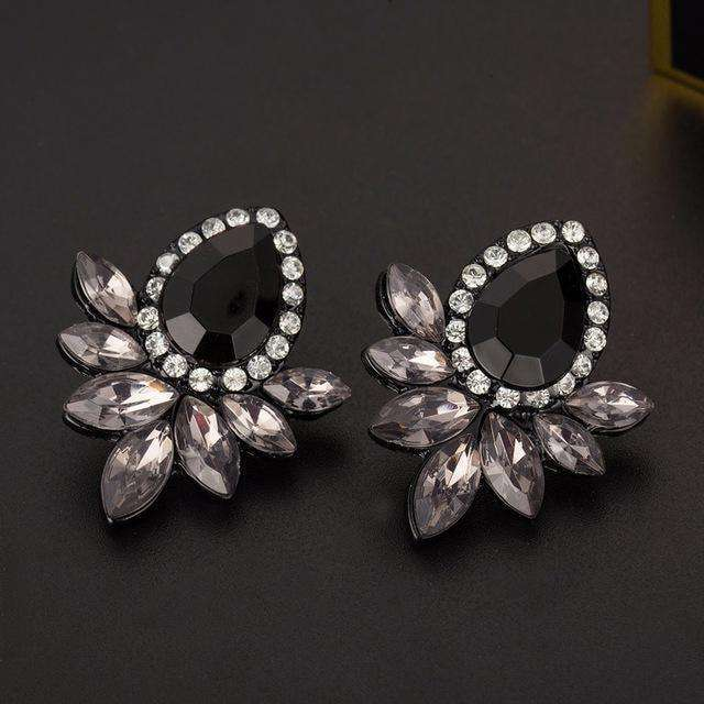 Womens Fashion Earrings Rhinestone Stud Earrings