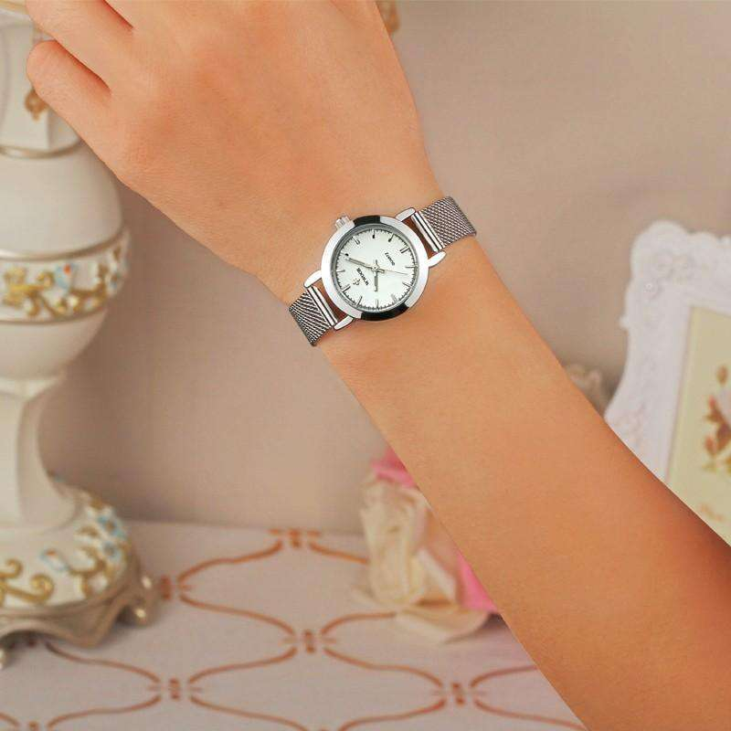 Womens Watch Ultra Thin Stainless Steel Quartz Watch