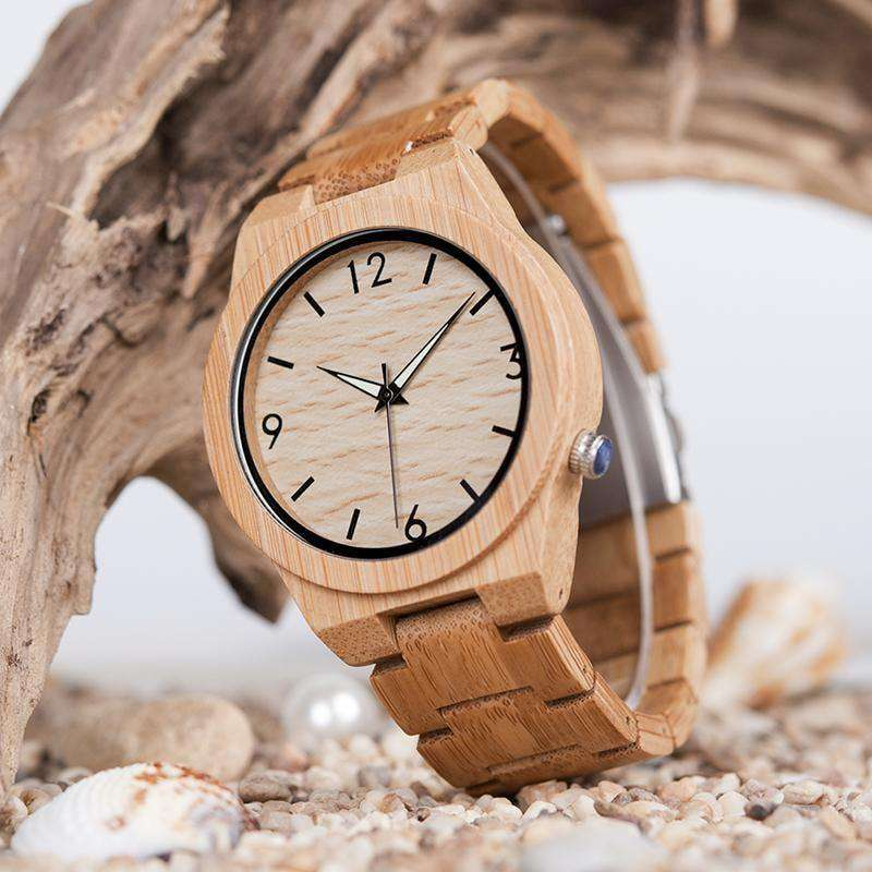 Womens Wooden Bamboo Watch Quartz Women Watch