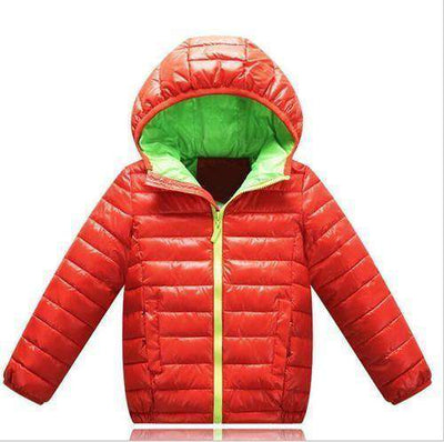 Zipper Jackets Boys Thick Winter Coat Clothes Red / 4T