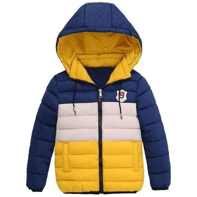 Zipper Jackets Boys Thick Winter Coat Clothes Yellow / 4T