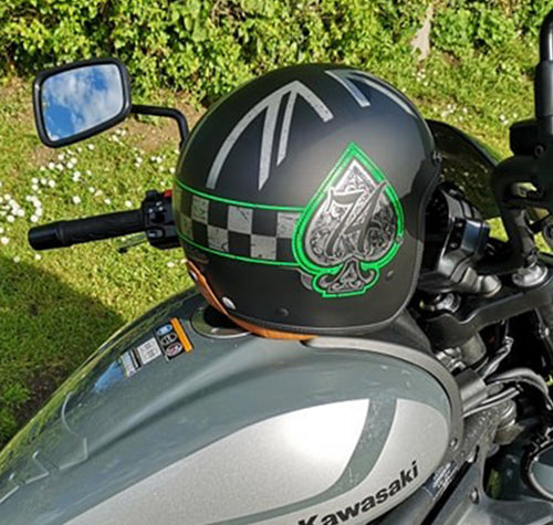 Ace Rider Green, Silver & Black