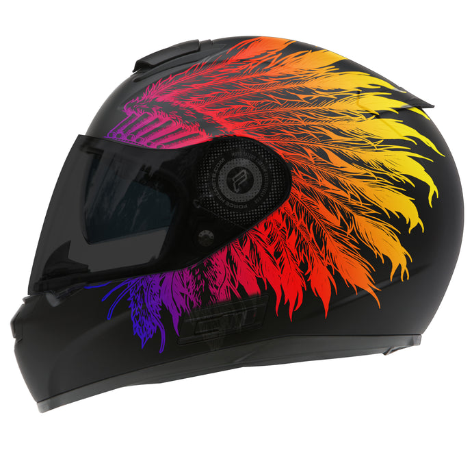 Rainbow Feathers Design