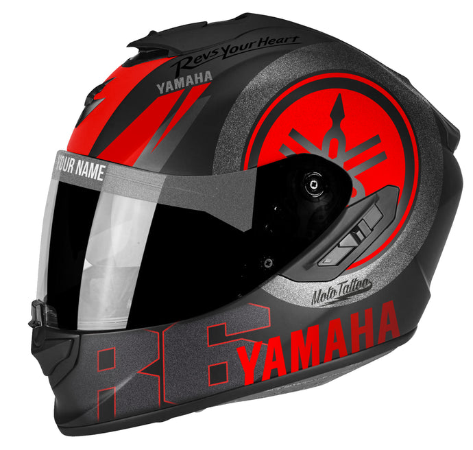Yamaha Red, Silver & Black