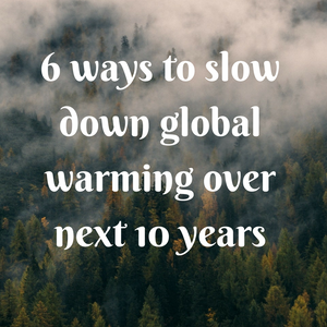6 ways to slow down global warming over next 10 years