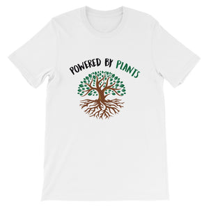 Powered by Plants Unisex T-Shirt - Colour - Save Our Trees Now - Fight Climate Change