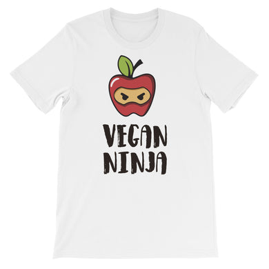 Vegan Ninja Unisex T-Shirt - Light - Save Our Trees Now - Fight Climate Change