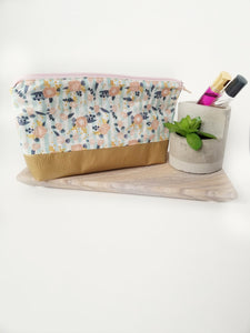 Peach Floral Essential Oil Pouch