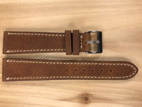 Tan Handmade & Hand-stitched Italian Leather Strap | 20mm X 16mm - Back In Time International | Back In Time International