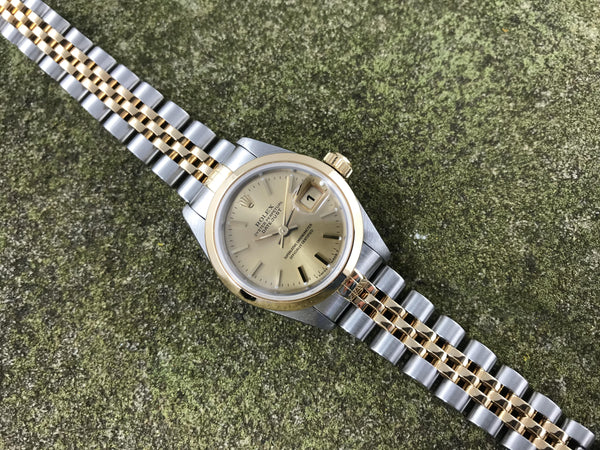 Lady's Rolex Oyster Perpetual Datejust Stainless Steel / 18K 69163 - Rolex | Back In Time International