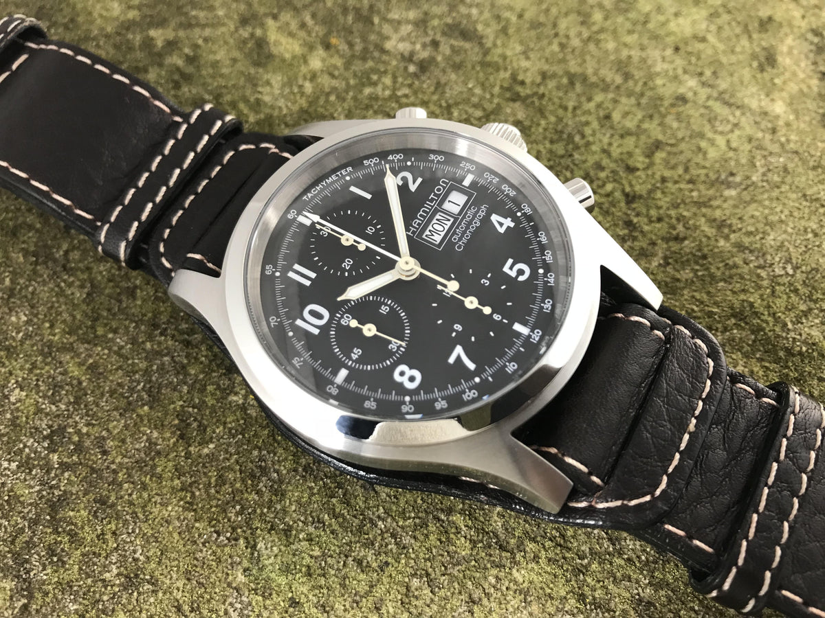 54662c71c Hamilton Khaki Field Stainless Steel Automatic Chronograph H71516133 | Back  In Time International .