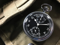 Breitling Stainless Steel Military Navigational Stop Chronograph WWII Pocket Watch