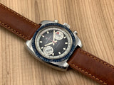Bucherer Vintage Incabloc Stainless Steel Hand-wind Mechanical Chronograph Valjoux 7733