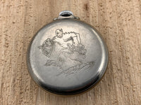 Vintage Ingraham BUCK ROGERS Silver Tone Base Metal Hand-wind Mechanical Pocket Watch RARE!