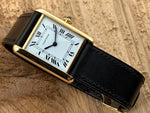 Cartier 18K Gold Hand-wind Mechanical Tank