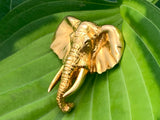 Vintage 10K Solid yellow gold elephant pin