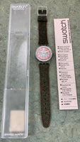 Vintage NOS Swatch Originals Loden GK167 Plastic/Leather Quartz 1993