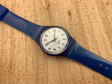 Vintage NOS Swatch Originals Medium Blue GN154 Plastic Quartz 1996 RARE!