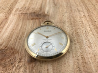Gruen Veri-thin 10K Gold-filled Pocket Watch - Gruen | Back In Time International