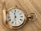 Antique A. Huguenin & Sons Locle 14K Yellow Gold 1/4 Hour Repeater with Chronograph Pocket Watch