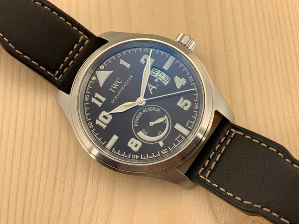 IWC Stainless Steel Limited Edition Antoine de Saint Exupery Flieger Automatic Power Reserve Ref # 3201