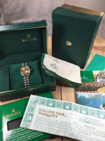 Lady's Rolex Oyster Perpetual Datejust Stainless Steel / 18K 69163