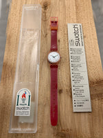 Vintage NOS Swatch Originals Lady's Pink LR115 Plastic Quartz 1996
