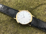 Omega 14K Gold Round Thin Quartz Dress Watch - Omega | Back In Time International