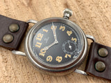 Vintage Omega Pilot Aviator Military Stainless Steel Hand-wind Mechanical