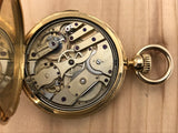 Antique Patek Philippe 18K Yellow Gold 1/4 Hour Repeater Pocket Watch