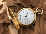 Antique Patek Philippe 18K Yellow Gold Split Second Chronograph Pocket Watch