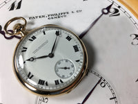 Vintage Patek Philippe 18K Yellow Gold Triple Signed Pocket Watch