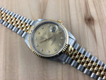 Rolex Oyster Perpetual Datejust Stainless Steel/18K Gold with OEM Diamond Dial 16233