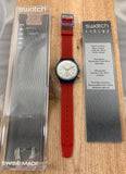 Vintage NOS Swatch Originals Chronograph JFK SCN103 Plastic Quartz 1992 VERY RARE!