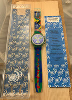 Vintage NOS Swatch Originals Chronograph UNlimited SCZ103 50TH Anniversary of the United Nations Special Package Edition Plastic Quartz 1995 VERY RARE!