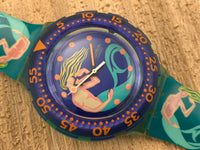 Vintage NOS Swatch Originals Scuba 200 Sailor's Joy SDG100 Plastic Quartz 1993