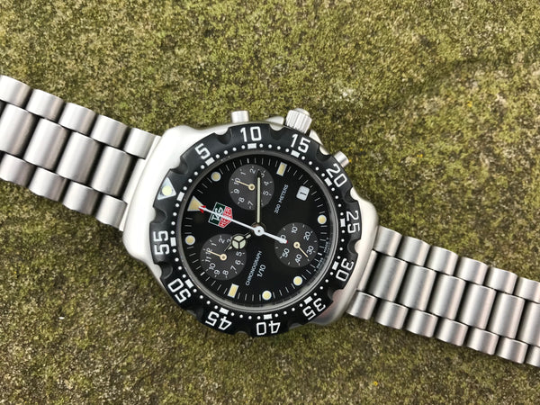 TAG Heuer 200 Meter Stainless Steel Chronograph Quartz - TAG Heuer | Back In Time International