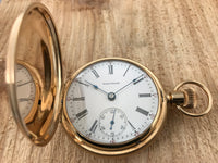 Antique American Waltham 14K Yellow Gold Hunting Case Pocket Watch - Waltham | Back In Time International