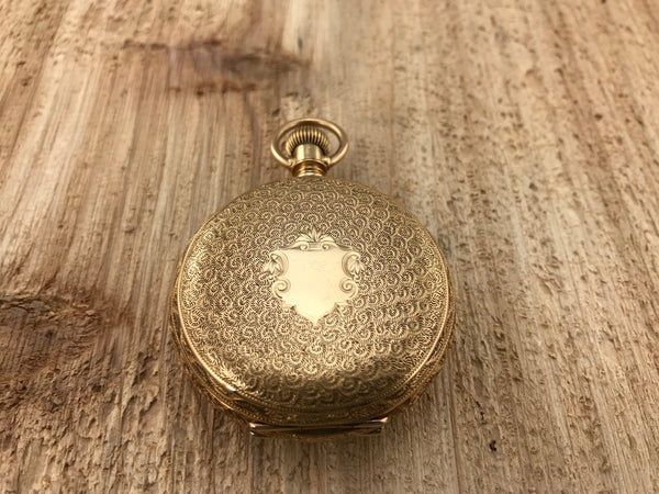 Antique Waltham 18K Gold Hunting Case Pocket Watch - Waltham | Back In Time International