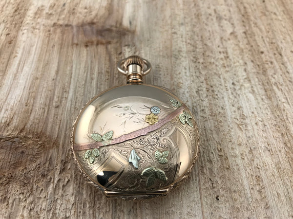 Antique American Waltham Tri-Color Hunting Case Pocket Watch - Waltham | Back In Time International