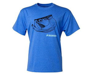 Sage Tarpon Head T Shirt Heather Blue